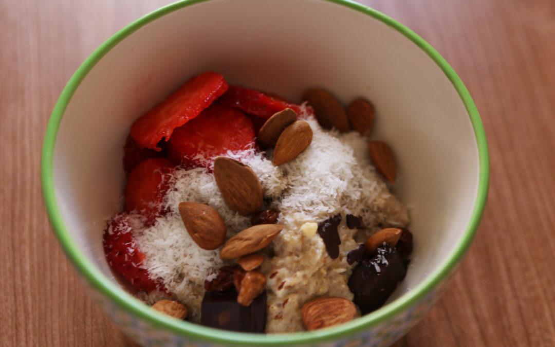 Desayuno energético: Porridge de avena.